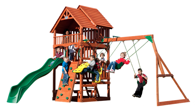 Backyard Discovery Playset - Highlander Cedar Swing Set