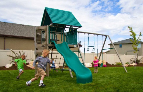 Lifetime 90042 Earthtone Heavy Duty Metal Playset with Club House